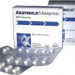 Таблетки Акатинол Мемантин