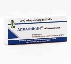 Аллапинин в таблетках 25 мг