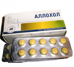 Желчегонный препарат Аллохол