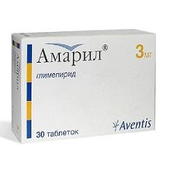 Таблетки Амарил 3 мг