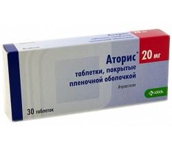 Аторис в таблетках 20 мг