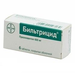 Бильтрицид в таблетках 600 мг
