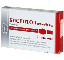 Таблетки Бисептол 400/80 мг