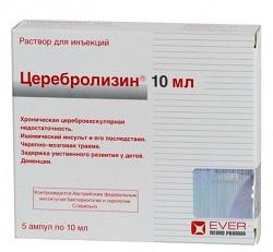 Раствор для инъекций Церебролизин