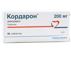 Кордарон в таблетках 200 мг