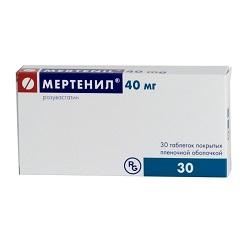 Мертенил в таблетках 40 мг