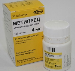 Метипред в таблетках 4 мг