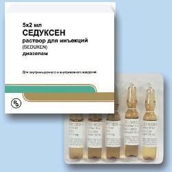 Раствор для внутривенного и внутримышечного введения Седуксен