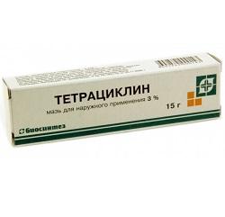 Мазь для наружного применения 3% Тетрациклин