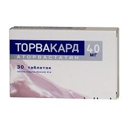 Таблетки, покрытые пленочной оболочкой, Торвакард