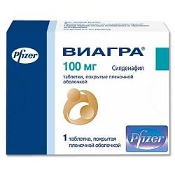Виагра в таблетках 100 мг