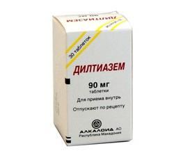 Дилтиазем ретард 90 мг № 20 таблетки / диуретики / лекарства.